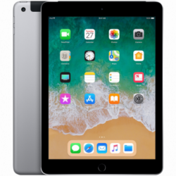 Apple 9.7-inch iPad 6 Cellular 32GB Space Grey (Retina Display, LED‑backlit Multi‑Touch display, 2048by-1536 resolution at 26...