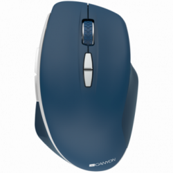Canyon 2.4 GHz Wireless mouse ,with 7 buttons, DPI 800-1200-1600, Battery: AAA*2pcs,Blue,72*117*41mm, 0.075kg